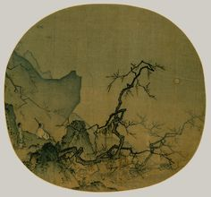 Viewing plum blossoms by moonlight - Ma Yuan