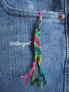 Craftingeek*: Pulsera Macramé Diagonal: tutorial