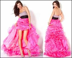 Jovani Prom Gowns with High Low Skirt: Jovani 30079