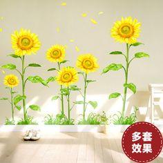 Livingroom Sunflower Corridor Wall Sticker Decal