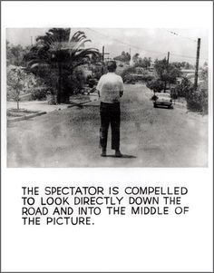 John Baldessari: The Spectator Is Compelled …, 1966–1968. Acrylic and photo-emulsion on canvas, 59 x 45in. © 2004 John Baldessari.