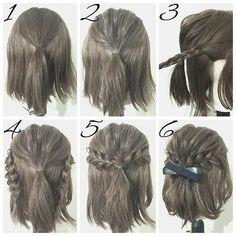 braids plait half up