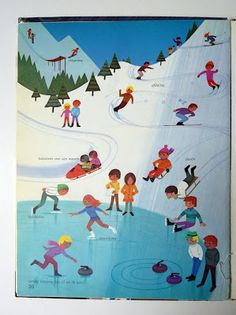 illustration by Alain Gree Vintage Illustration Art, Winter Illustration, Children's Picture Books, Winter Art, Vintage Children's Books, Book Projects, Illustrations Posters, Childrens Books, Illustrators