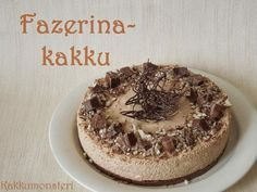 Kakkumonsteri: Fazerina juustokakku Cake Day, Cheesecakes, Yummy Cakes, No Bake Cake, Tart, Sweet Tooth, Deserts, Dessert Recipes, Favorite Recipes