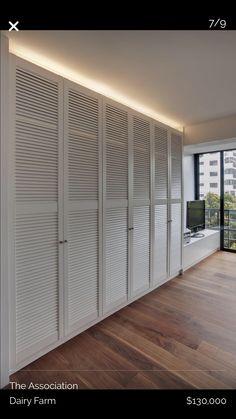 Walnut Cosy — the Association Bedroom Built In Wardrobe, Bedroom Closet Design, Wardrobe Doors, Closet Designs, Closet Doors, Home Decor Bedroom, Modern Wardrobe, Wardrobe Closet, Door Design