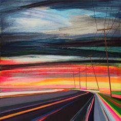 "Goodnight Long Beach by Grant Haffner, 2012, acrylic on wood panel, 12"" x 12"""