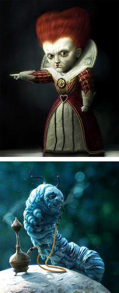 Concept Art by German Artist Michael Kutsche | Queen of Hearts - Tim Burtons's Alice in Wonderland