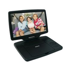 """RCA 10"""" Portable DVD Player with Swivel Display (DRC98101S) - Black (Certified Refurbished)"""