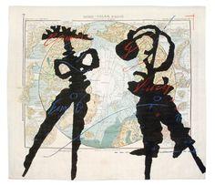 North Pole Map, 2003  arazzo tessuto in seta e ricamato  Collezione MAXXI