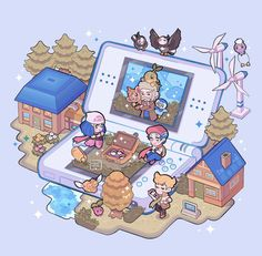 Pokemon Fan Art, Mega Pokemon, Pokemon Games, Poke Game, Pokemon Backgrounds, Pokemon Eeveelutions, Anime Undertale, Isometric Art, Cute Pokemon Wallpaper