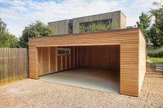 Dřevěná dvojgaráž se společnými vraty - 6,3 x 6,3 m - Hagen