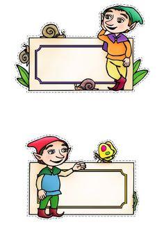 ΚΑΡΤΕΛΑΚΙΑ ΝΑΝΟΙ Preschool Printables, Gnomes, Envelopes, Fairy, Stickers, Tags, Arabesque, Invitations, Sticker