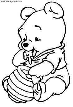 Winnie The Pooh Kidding Happy Coloring Page Winnie The Pooh