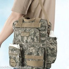 Military Camo Army Daddy Diaper Bag