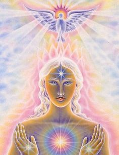 Perfect depiction of what Reiki is all about. Getting universal energy from above and tapping into higher power to use you as a tool for healing