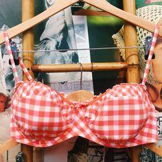 Hustle & the Vixen x Seafolly Neon Baby Gingham Bikini Set