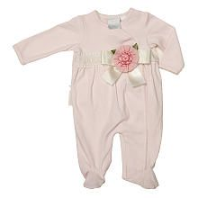 cce84a3fd1 Koala Baby Boutique Girls Pink Asymmetrical Footie with Floral Applique Girls  Boutique