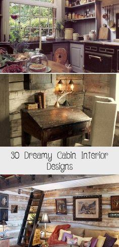 30 Dreamy Cabin Interior Designs In 2020 Cabin Interior Design