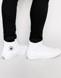 Converse+Chuck+Taylor+All+Star+II+Plimsolls+In+White+150148C
