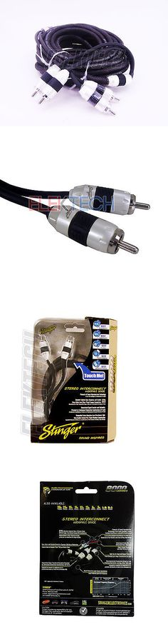 Interconnect Cables: Stinger Si8220 Audio Rca Interconnect Cable 2 Channels 8000 Series 20 Ft Stereo -> BUY IT NOW ONLY: $37.75 on eBay!