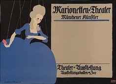 Lucian Bernhard (1883-1972, German-American), 1910, Marionetten-Theater. (G)