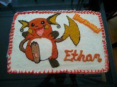 Raichu bday cake for my nephew's 6th bday