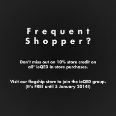 ieQED Frequent Shopper Group | Flickr - Photo Sharing!