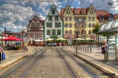 Erfurt: Haltestelle am Domplatz  (by HR)