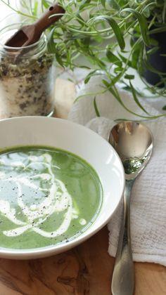 Sencilla sopa de espinaca