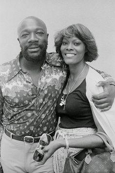 "What a power couple!!  1977 - Dionne Warwick and Isaac Hayes on the set of ""Rockford Files"""