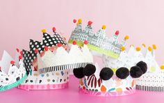 Printable Paper Crowns - Check out our list of 39 other DIY crown and tiaras that you can create for your next party | Coolcrafts.com