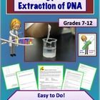 Biology Lab: Simple DNA Extraction from Wheat Germ  This is one of my favorite labs/activities that I do with my Biology I students. It doesn't take long to do, it uses very simple household materials, and it works every time! There is no number crunching or data analysis, but just a fun activity that your students will really enjoy.