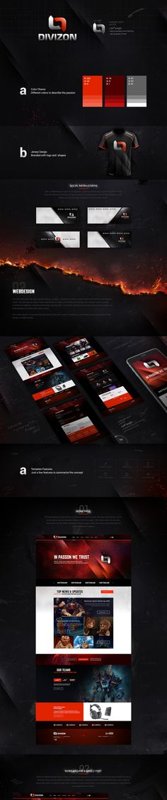 This project had a goal to present development of Team branding and web design…