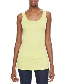 Thin-Strap Cotton Tank, Women's, Size: 3X, White - XCVI