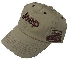 Jeep® Wrangler Side View Cap Khaki Brown Adjustable CapFull jockey  shape—–Six 6b017f8cb0a7