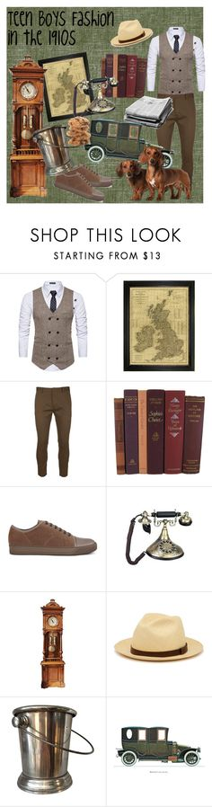 """Boys Teenage Fashion In the 1910s"" by haydenbexley on Polyvore featuring Dsquared2, Lanvin, Frye, men's fashion and menswear"