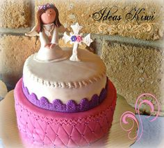 1st Communion Angel Cake by sandra vidrio, via Flickr