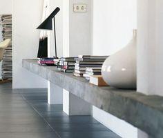 shelves concrete - Google Search