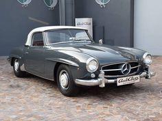 1961 Mercedes Benz #190SL. Grey with bordeaux leather interior. Via: carandclassic.co.uk. For all your Mercedes Benz #190SL restoration needs please visit us at http://www.bruceadams190sl.com. #BruceAdams190SL.