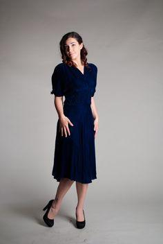 Velvet 1930s Dress  Vintage 30s Dress  Just by concettascloset, $234.00-cut of bodice