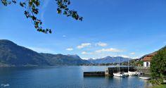 View on Abbadia Lariana Harbour in Como Lake | Vista sul porto di Abbadia Lariana, sul Lago di Como | #lake #Como #Lago #Italy #lakecomoapp #panorama #view