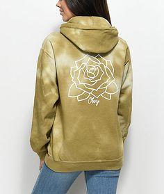 47d6ef25ed14 Obey Mira Rosa Avocado Tie Dye Hoodie Tie Dye Hoodie, Fleece Hoodie,  Sweater Hoodie