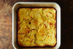 Dorie Greenspan's Custardy Apple Squares recipe: You probably have the ingredients on-hand. #food52