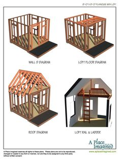 Spring is in the air, and it's time to get outside and make something! I just added another set of playhouse plans to my website.