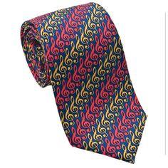 G-Clef Music Necktie by Josh Bach