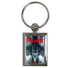 This key chain is made from metal and has an enamel coating for a lifetime protection. Measures (W) x (L), includes key ring. Judas Priest, Key Chain, Old Things, Pure Products, Personalized Items, Metal, Metals