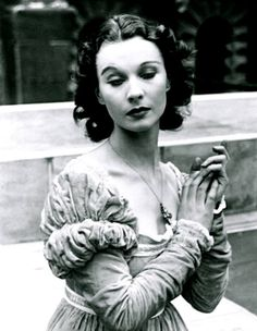 Vivien Leigh as Ophelia in Shakespeare's Hamlet. It was one of the first productions that Leigh would perform with Lawrence Olivier.