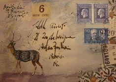 The Doily Duck: Envelope Art
