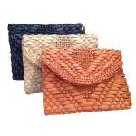 Herringbone Straw Clutch  @DKM Accessories