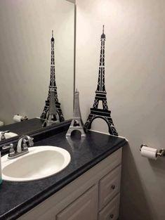 murales decoración Torre Eiffel retro-gran avance en la 3d-look